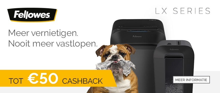 Fellowes LX Series Cashback Actie