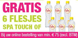 Gratis 6 flesjes Spa Touch Of