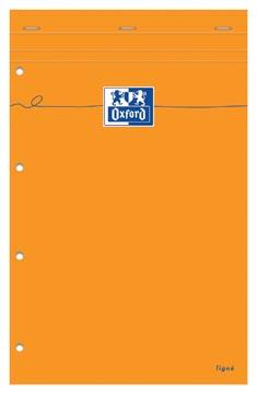 Oxford Orange Pads schrijfblok, ft A4+, gelijnd, 160 bladzijden, 4-gaatsperforatie