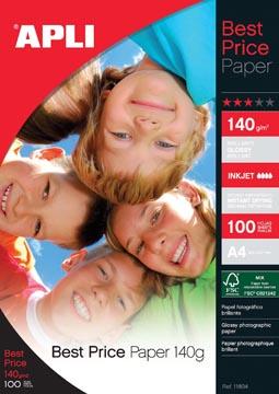 Apli fotopapier Best Price ft A4, 140 g, pak van 100 vel