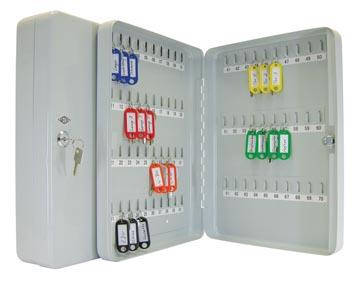 Wedo sleutelkast voor 70 sleutels, ft 28 x 6 x 37 cm , grijs