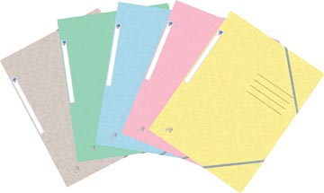 Oxford Top File+ elastomap, voor ft A4, geassorteerde pastelkleuren
