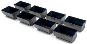 Safescan muntbakjes voor kassalades serie 4141, zwart, set van 8 stuks