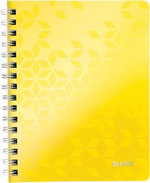 Leitz WOW schrift ft A5, gelijnd, geel