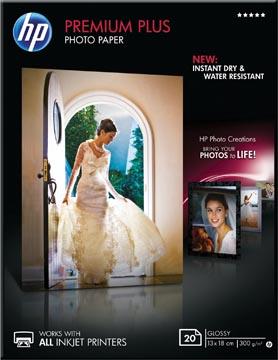 HP Premium Plus fotopapier ft 13 x 18 cm, 300 g, pak van 20 vel, glanzend