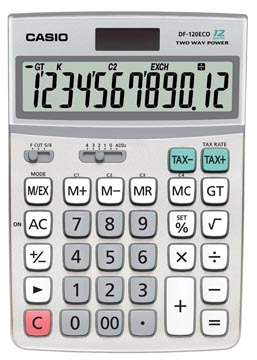 Casio bureaurekenmachine DF-120 ECO