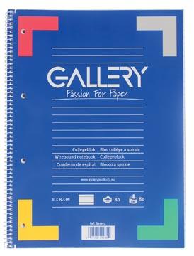 Gallery spiraalblok ft A4, gelijnd, 80 vel