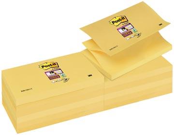 Post-it Super Sticky Z-Notes, ft 76 x 127 mm, geel, blok van 90 vel