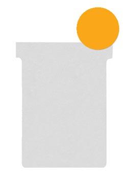 Nobo T-planbordkaarten index 2, ft 85 x 60 mm, oranje