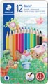 Staedtler kleurpotlood Noris Club 12 potloden in een metalen doos