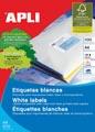 Apli Witte etiketten ft 99,1 x 34 mm (b x h), 1.600 stuks, 16 per blad (2418)