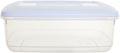 Whitefurze boîte de conservation rectangulaire 3 litres, transparent avec couverle blanc